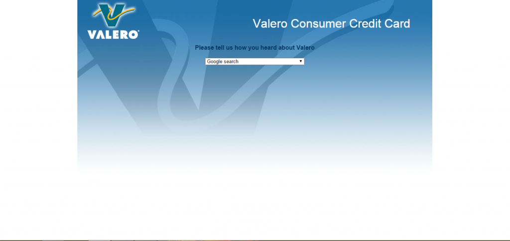 Valero credit card application guide surveyassistants valero credit card application page reheart Choice Image
