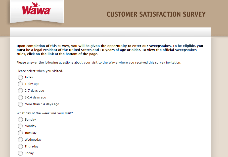 Wawa Nutrition Survey Completion Guide at www.mywawavisit.com ...