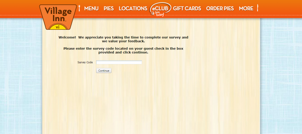 Village Inn Survey Page