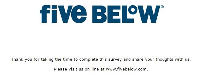 Five Below survey step 11