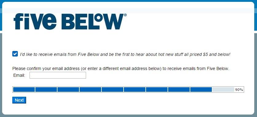 Five Below survey step 9