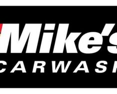 the logo of mikes car wash