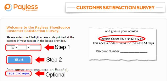 payless survey receipt validation