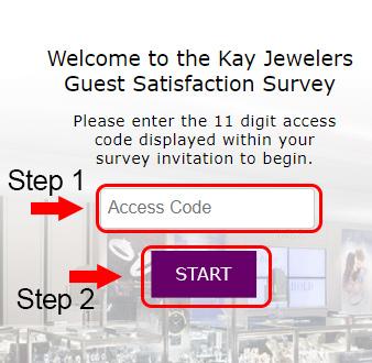 kay jewelers survey code